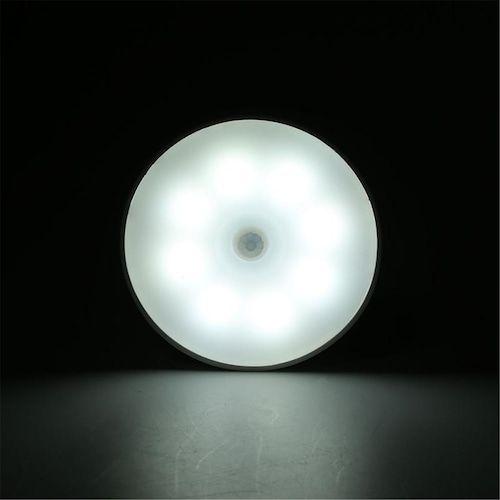 Led Charging Intelligent Human Body Induction Night Light Cabinet WardroBe Light Economical Magnetic Absorption Night Light - white white light