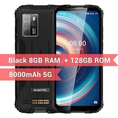 OUKITEL WP10 5G Rugged SmartPhone Global Version 8GB 128GB 8000mAh Mobile  Phone 6.67inch FHD+ MeditaTek 48MP Quad Camera Phone