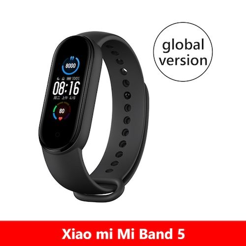 Original Band 5 Global Version 9 Languages Smart Miband Screen Bracelet  Heart Rate Fitness Sport Bluetooth Wristband