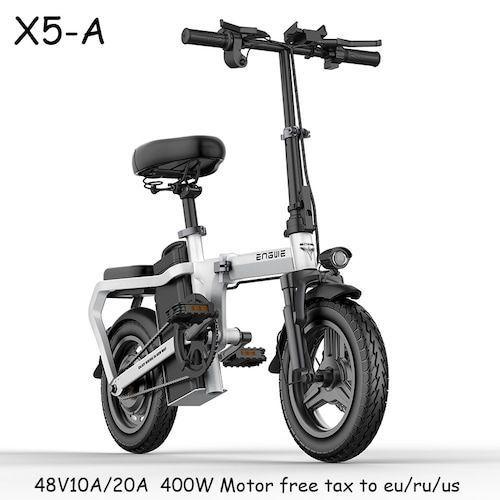 Hot X5 Electric Bike 14inch Mini Electric Bicycle 48V10A/20A city e bike  400W Powerful 30km/h bike/Full throttle sctooer bike