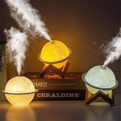 Planet Lamp Humidifier Moon Led Night Lamp USB New Strange Atmosphere Lamp  Humidifier Two In One