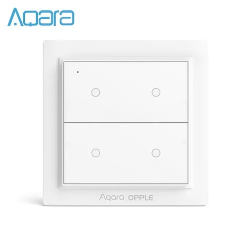 Aqara Opple Scene Switch Wireless Two Four Six Buttons Edition - White  Four buttons