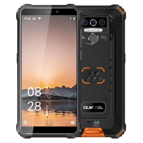 OUKITEL WP5 IP68 Waterproof Smartphone 8000mAh Android 10.0 Triple Camera  Face/Fingerprint ID 5.5 inches 4GB 32GB Mobile Phones