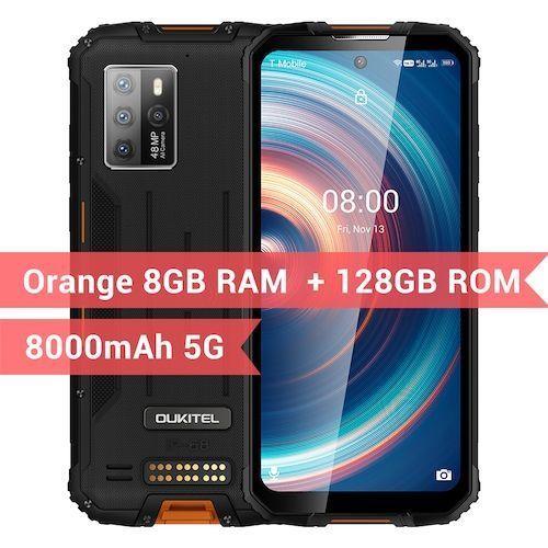 OUKITEL WP10 5G Rugged SmartPhone Global Version 8GB+128GB 8000mAh Mobile  Phone 6.67inch FHD+ MeditaTek 48MP Quad Camera Phone