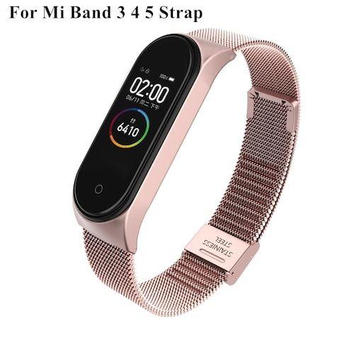 Strap For Xiaomi Mi Band 3 4 5 Wrist Metal Bracelet Screwless Stainless  Steel MIband for Mi Band 4 3 5 Strap Wristbands Pulseira