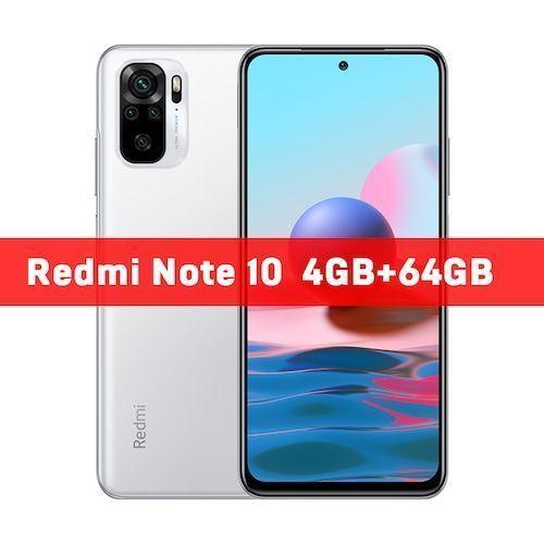 In Stock Global Version Xiaomi Redmi Note 10 4GB 64GB/4GB 128GB/6GB 128GB  Smartphone Snapdragon 678 33W AMOLED Display 48MP
